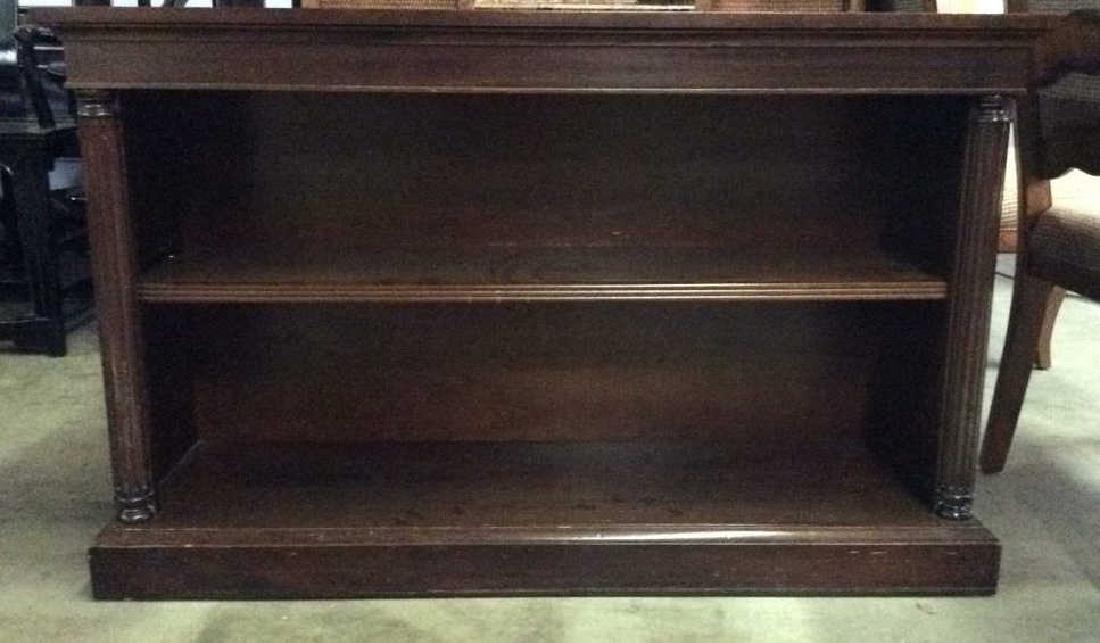 Wood Console Open Shelf Table - 2