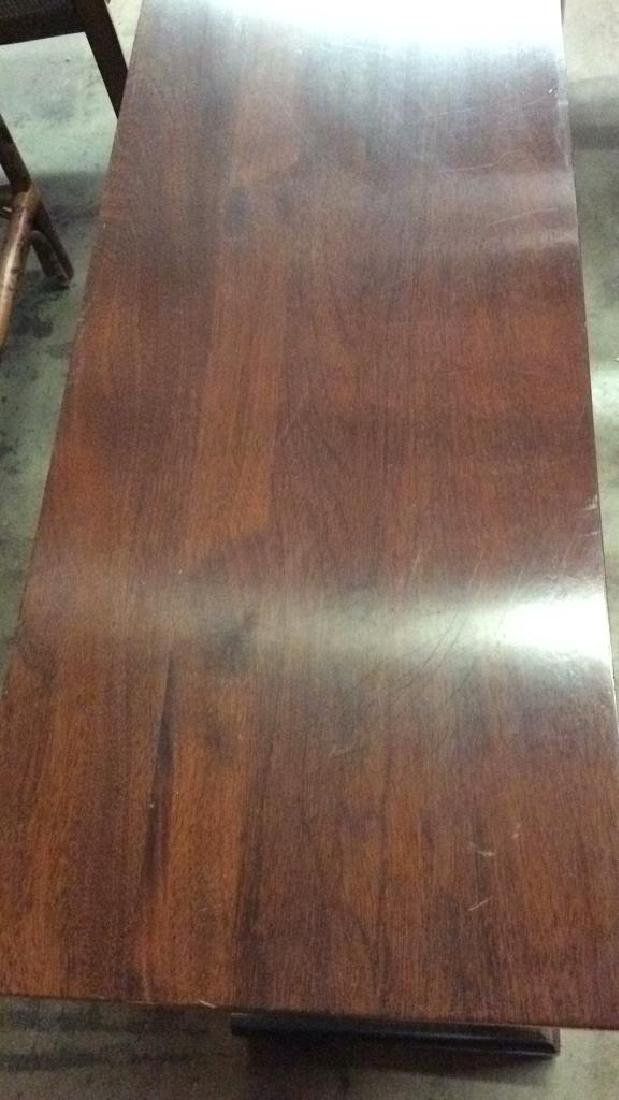 Wood Console Open Shelf Table - 5
