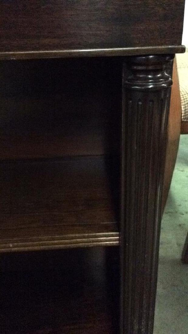 Wood Console Open Shelf Table - 6