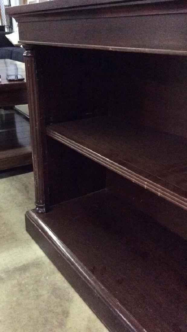 Wood Console Open Shelf Table - 7