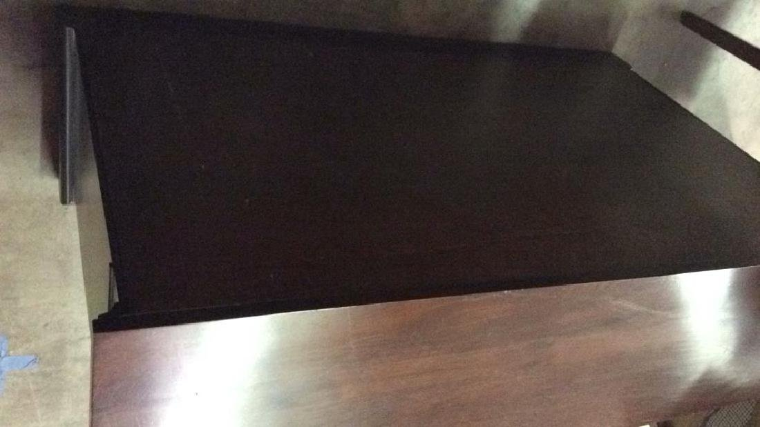 Wood Console Open Shelf Table - 8