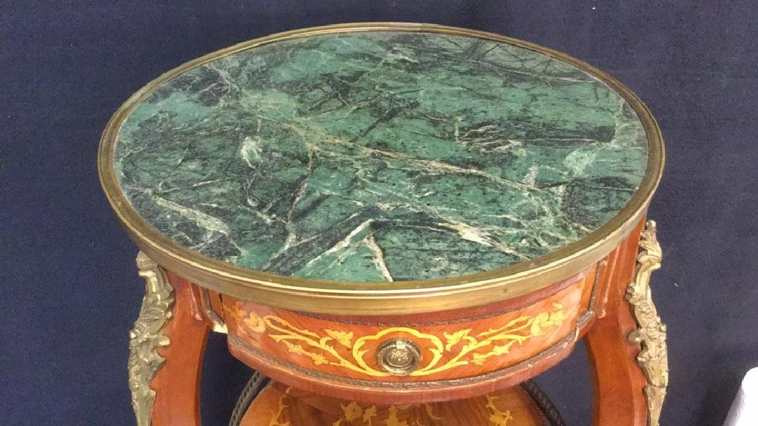 French Louis The XVI Style Antique GueridonTable - 3
