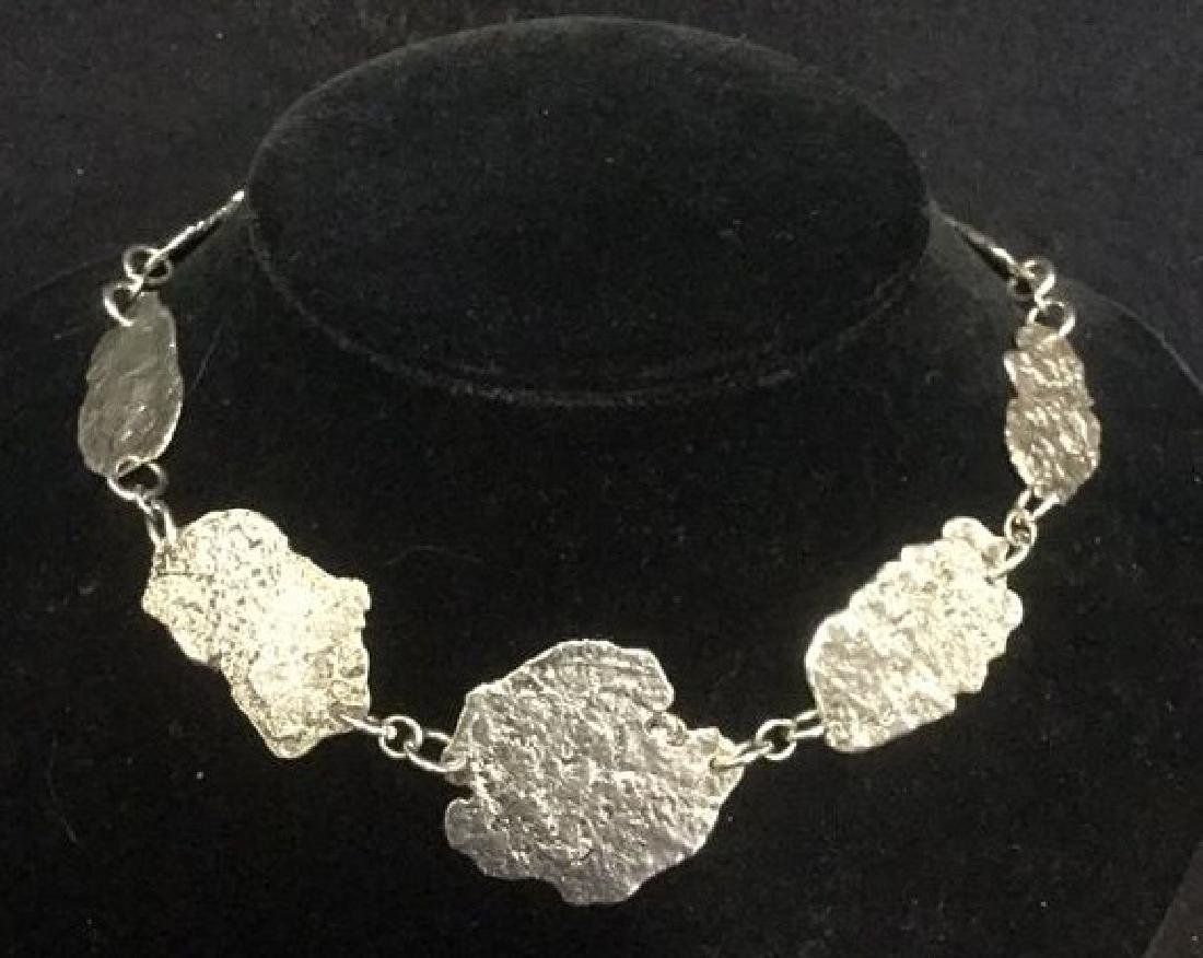 Brutalist Sterling Silver Necklace C 1960's
