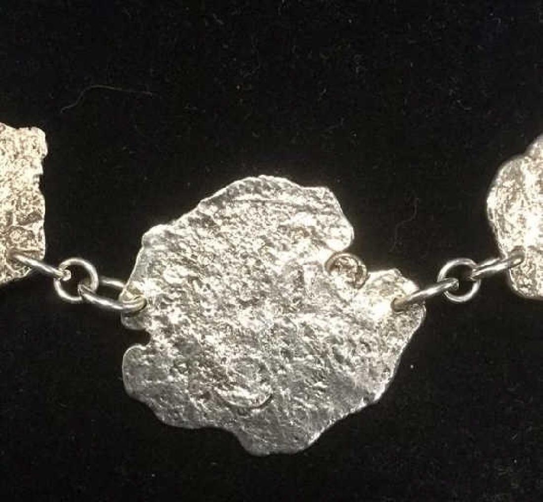 Brutalist Sterling Silver Necklace C 1960's - 2