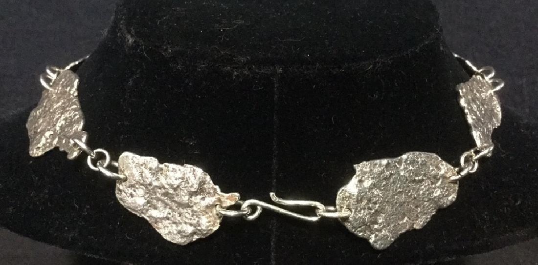 Brutalist Sterling Silver Necklace C 1960's - 4