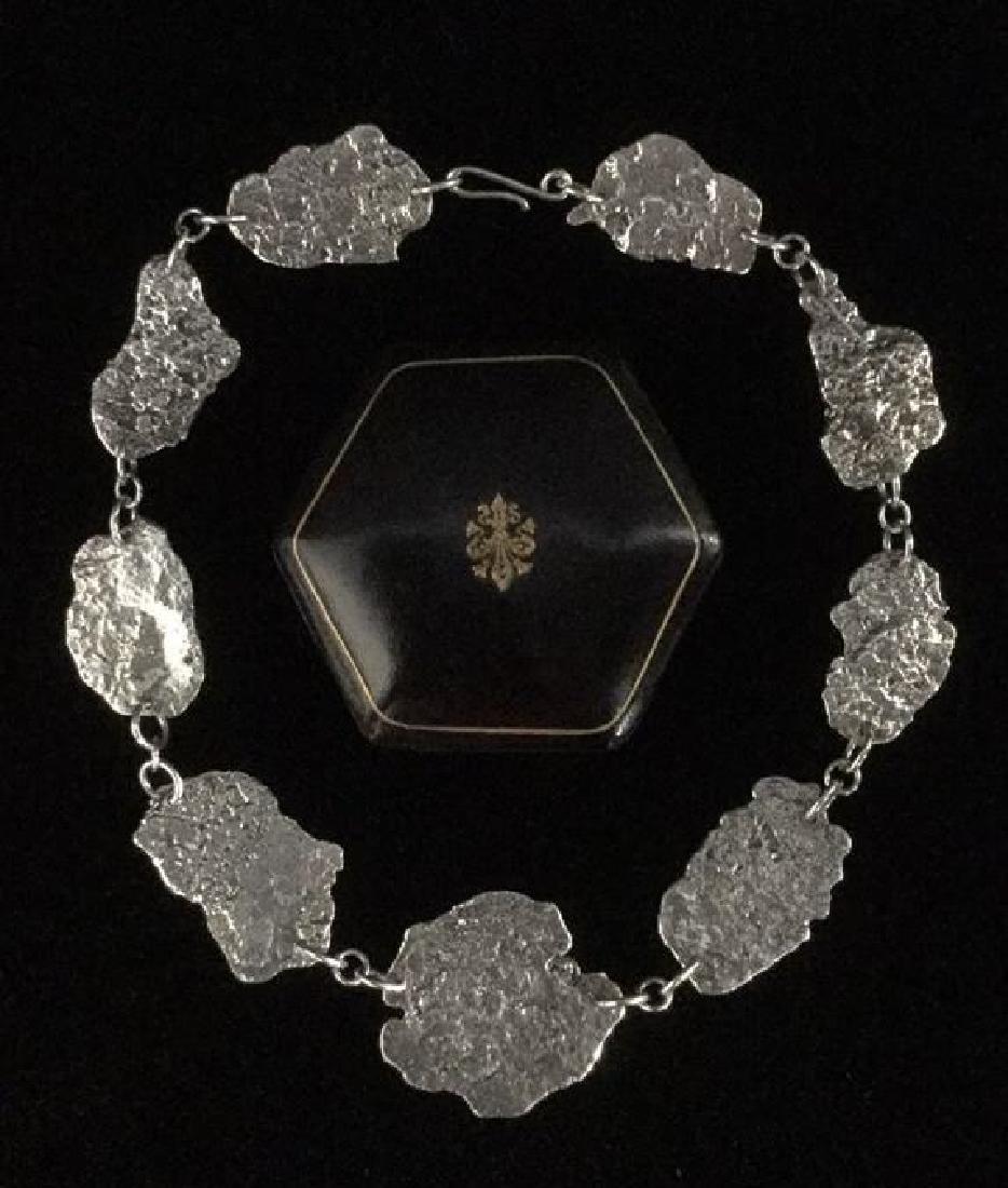Brutalist Sterling Silver Necklace C 1960's - 6