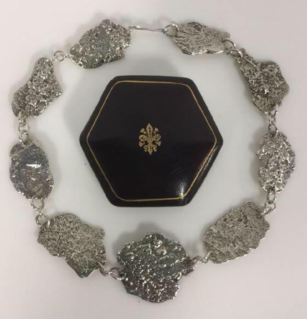 Brutalist Sterling Silver Necklace C 1960's - 7