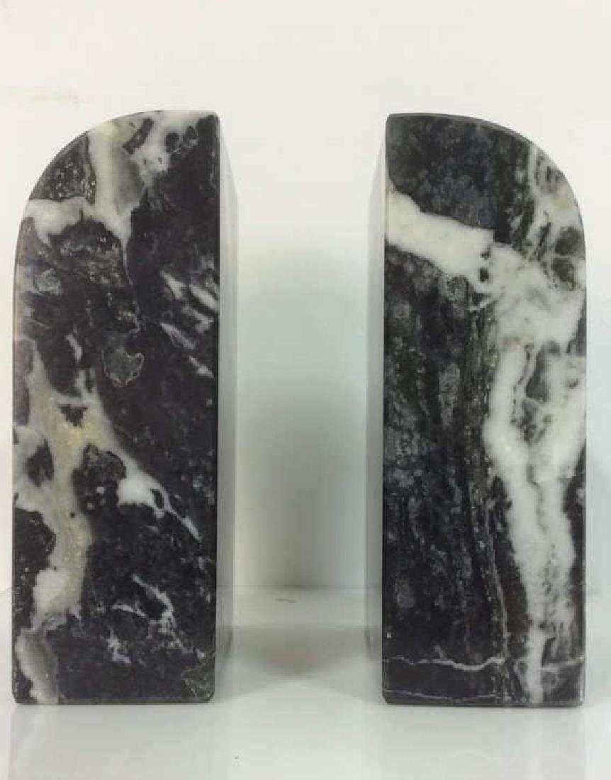 M Century Modern Italian Waterfall Marble Bookends - 3