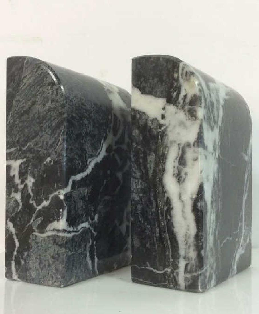 M Century Modern Italian Waterfall Marble Bookends - 4