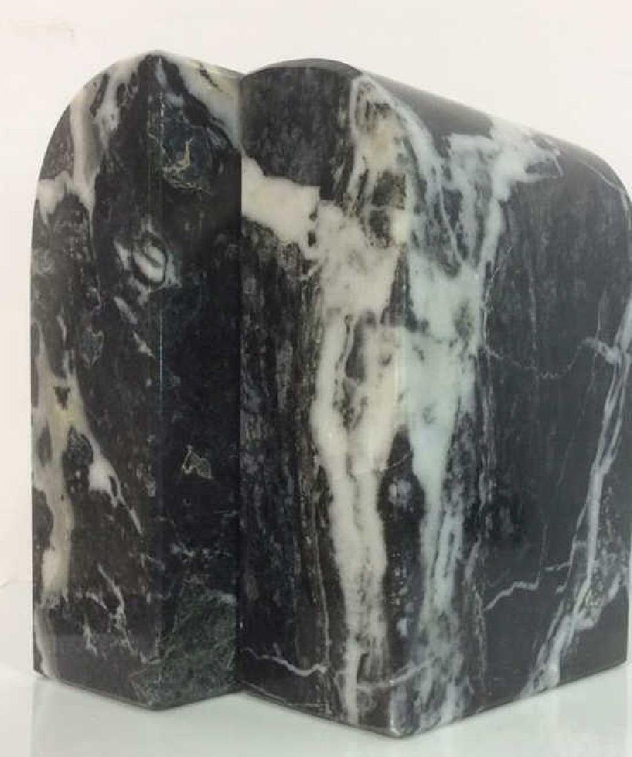 M Century Modern Italian Waterfall Marble Bookends - 8
