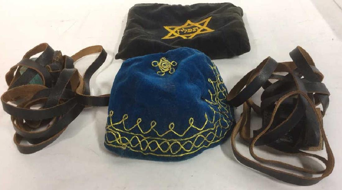Tefillin With Tefillin Pouch Judaica
