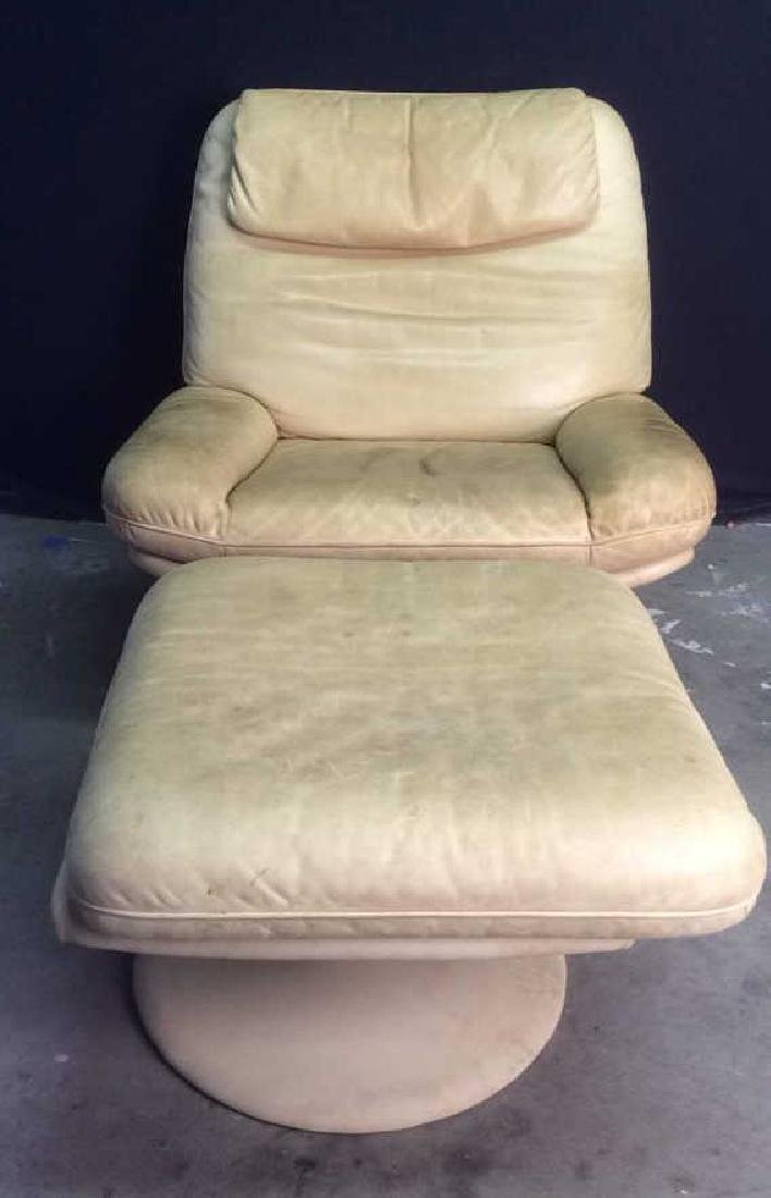 Set 2 de SEDE Leather Chair & Ottoman, Switzerland