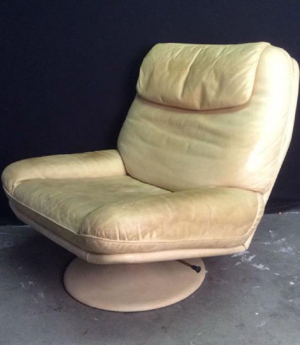 Set 2 de SEDE Leather Chair & Ottoman, Switzerland - 3
