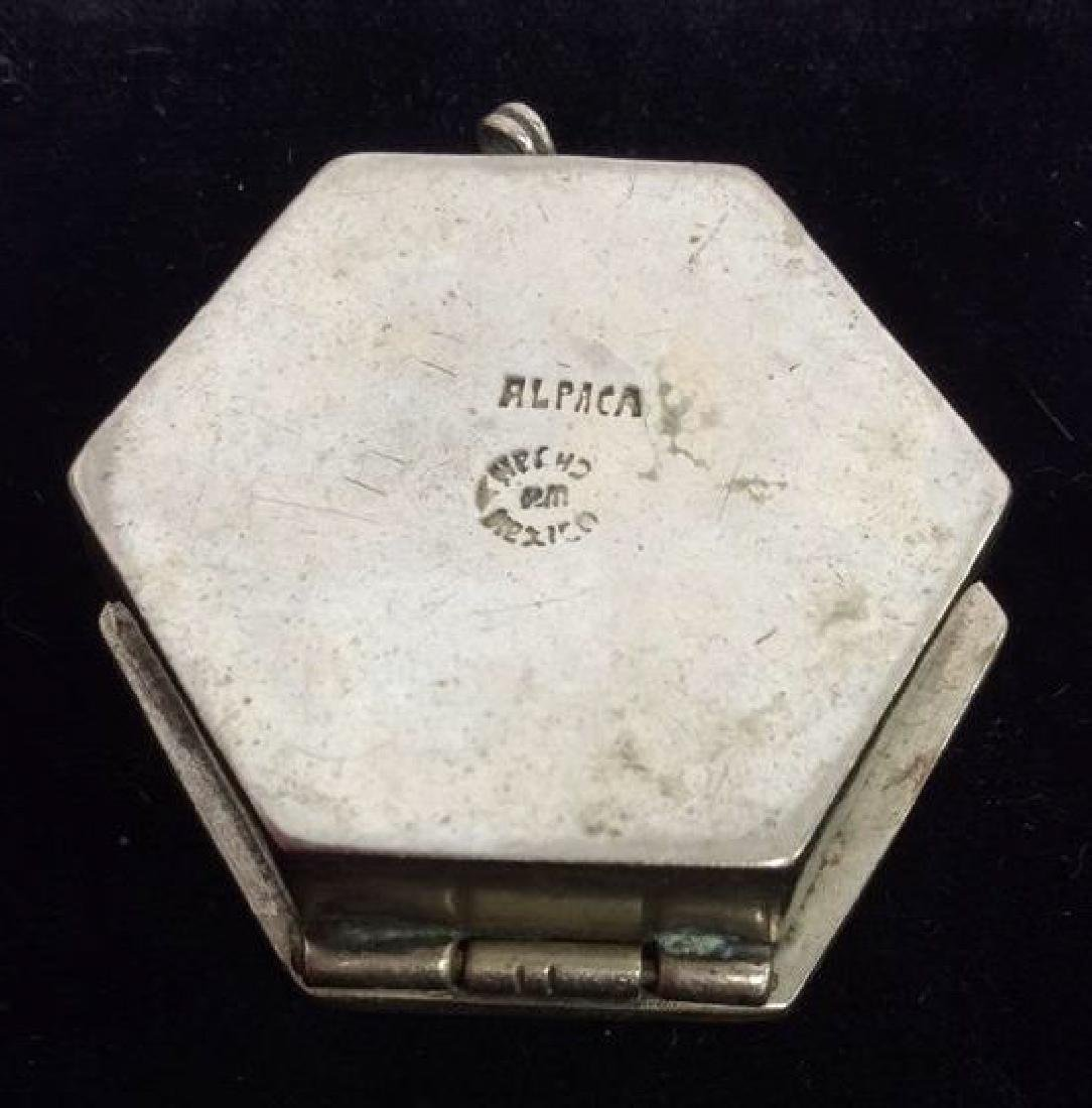 Lot 3 Vintage lid Trinket Boxes W Perfume Bottle - 3