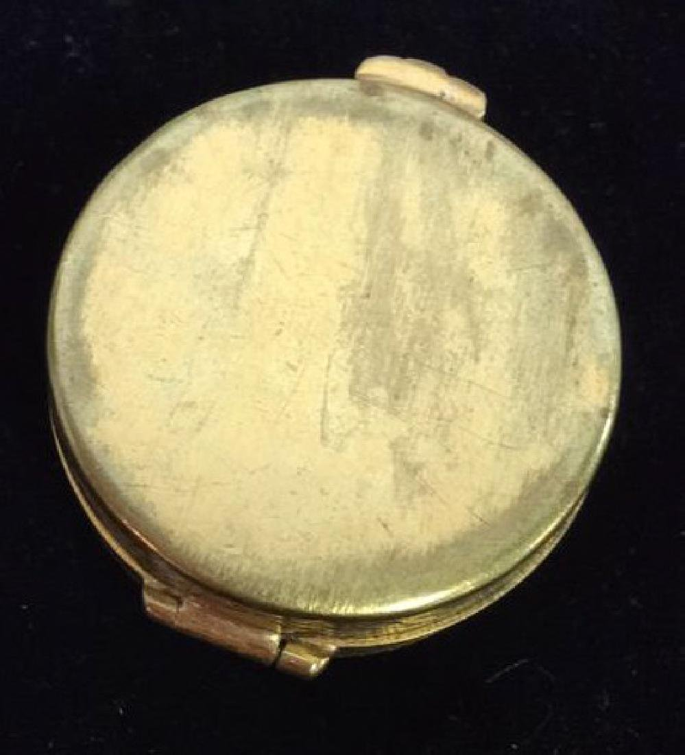 Lot 3 Vintage lid Trinket Boxes W Perfume Bottle - 8