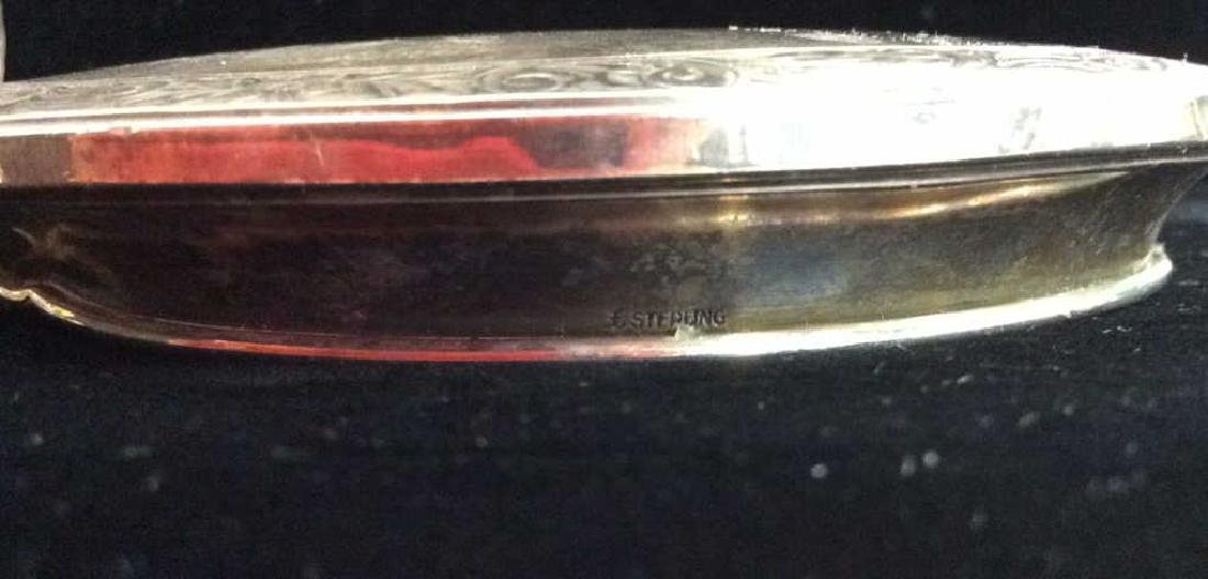 Geometric Cut Crystal Candy Dish W Sterling Lid - 7
