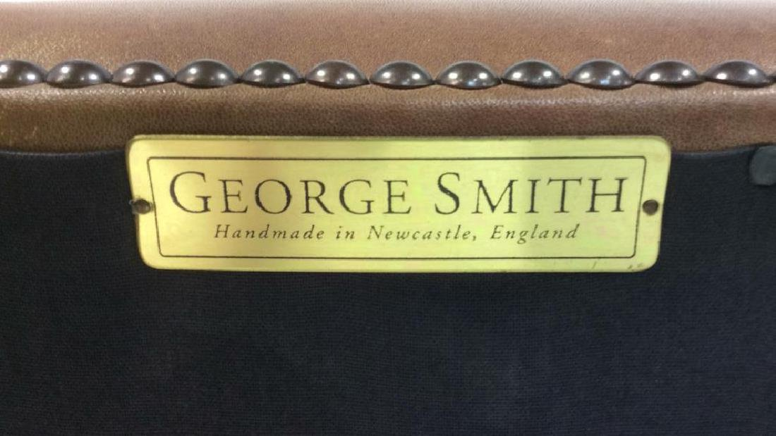 GEORGE SMITH CHocolate Brown Leather Ottoman - 5