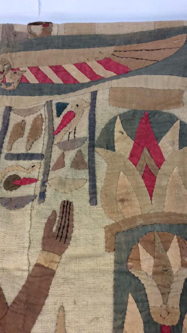 Vintage Hand Sewn Egyptian Style Tapestry - 10