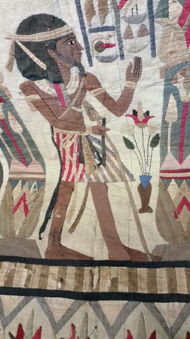 Vintage Hand Sewn Egyptian Style Tapestry - 2