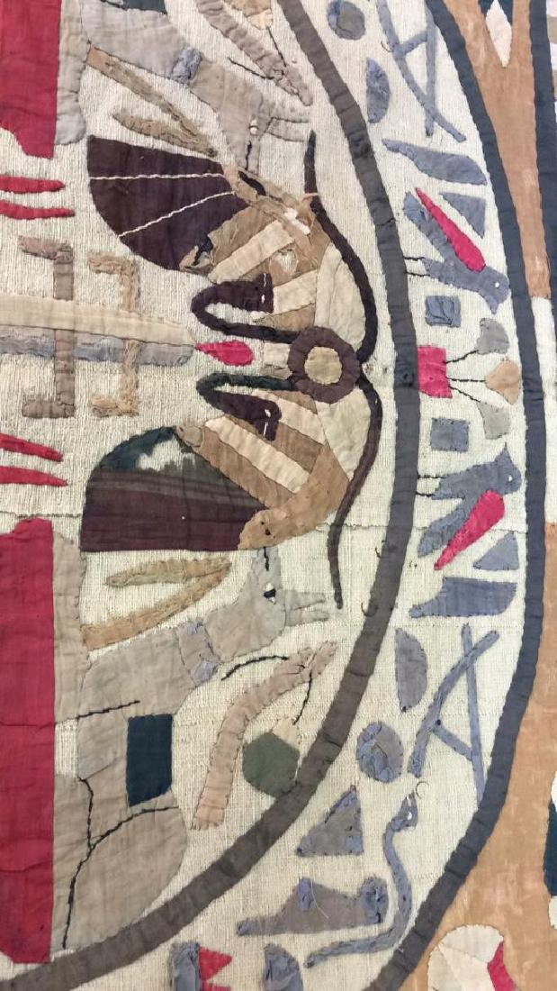 Vintage Hand Sewn Egyptian Style Tapestry - 3