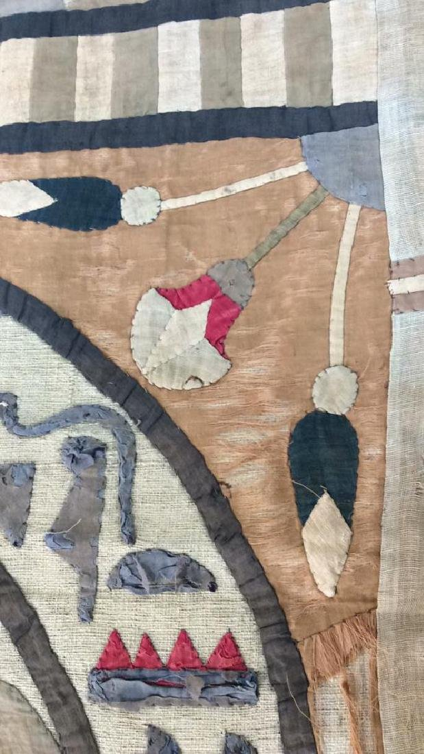 Vintage Hand Sewn Egyptian Style Tapestry - 5