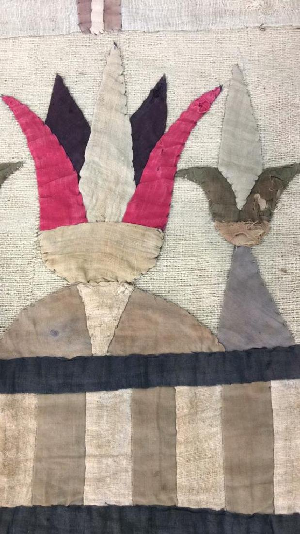 Vintage Hand Sewn Egyptian Style Tapestry - 6