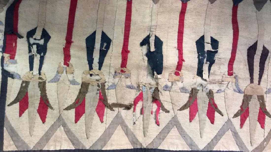 Vintage Hand Sewn Egyptian Style Tapestry - 8