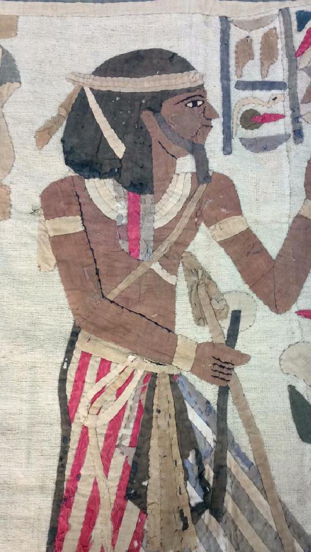 Vintage Hand Sewn Egyptian Style Tapestry - 9