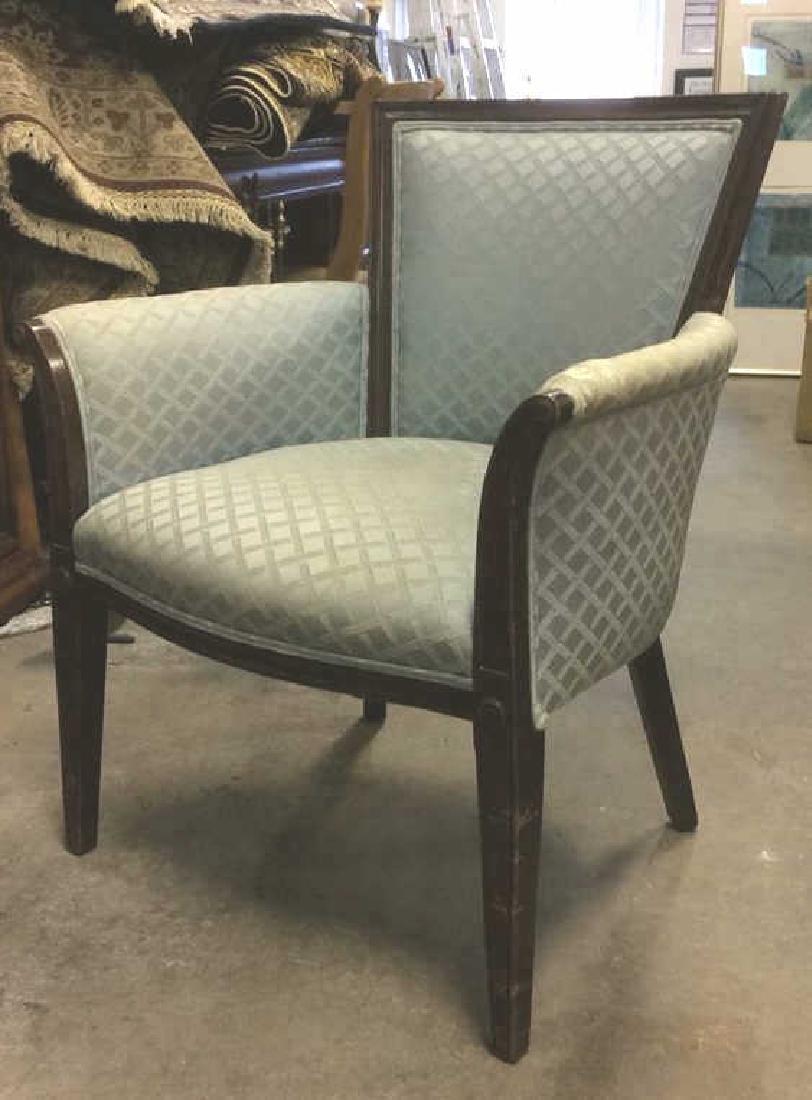 Vintage Wood Framed Upholstered Bergere Chair - 3