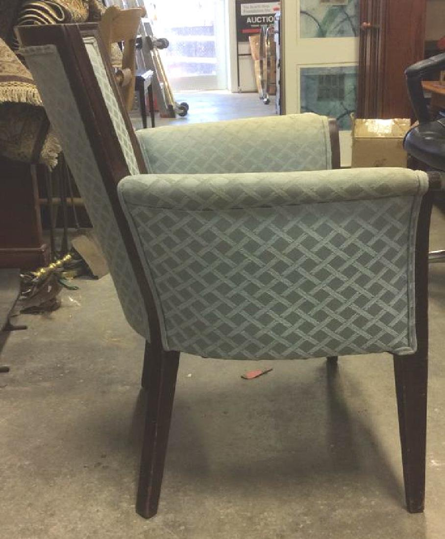 Vintage Wood Framed Upholstered Bergere Chair - 4