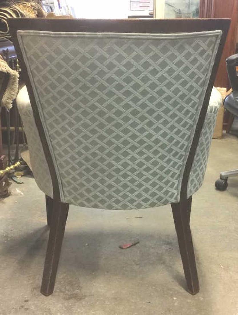 Vintage Wood Framed Upholstered Bergere Chair - 5