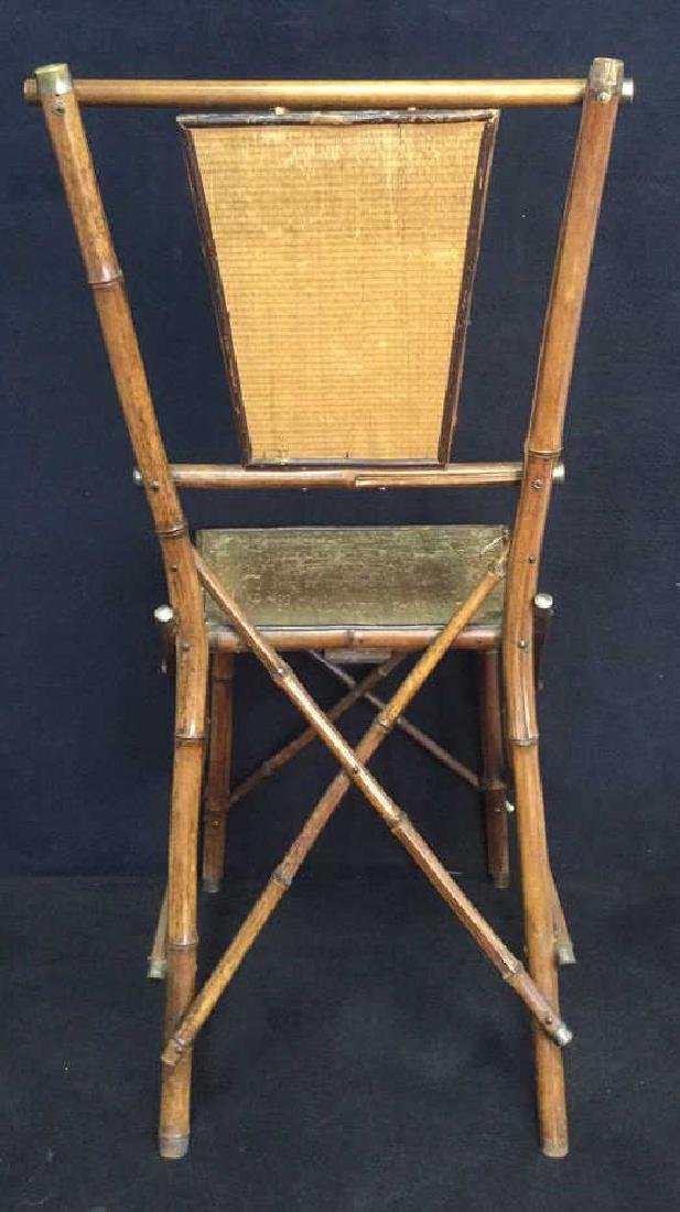 Victorian Antique Bamboo Chair With Rush Panels - 7