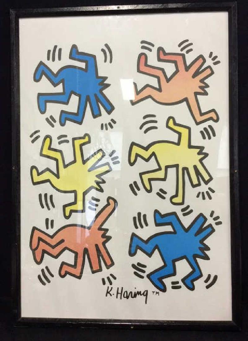 Keith Haring Dancing Dogs Pop Art Print