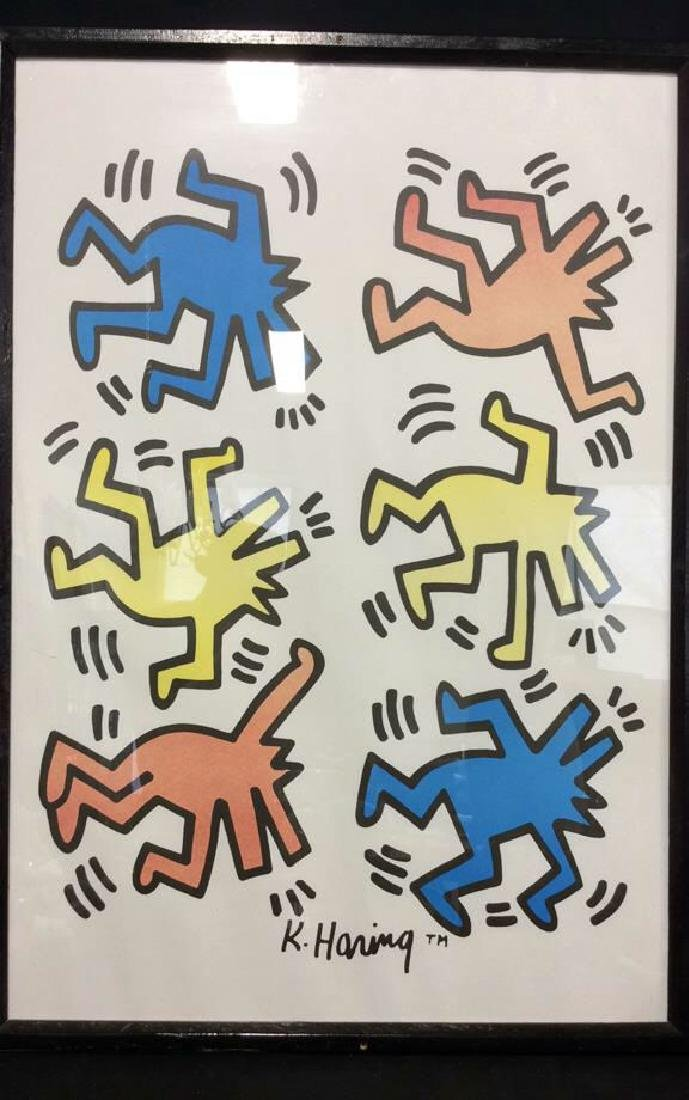 Keith Haring Dancing Dogs Pop Art Print - 2