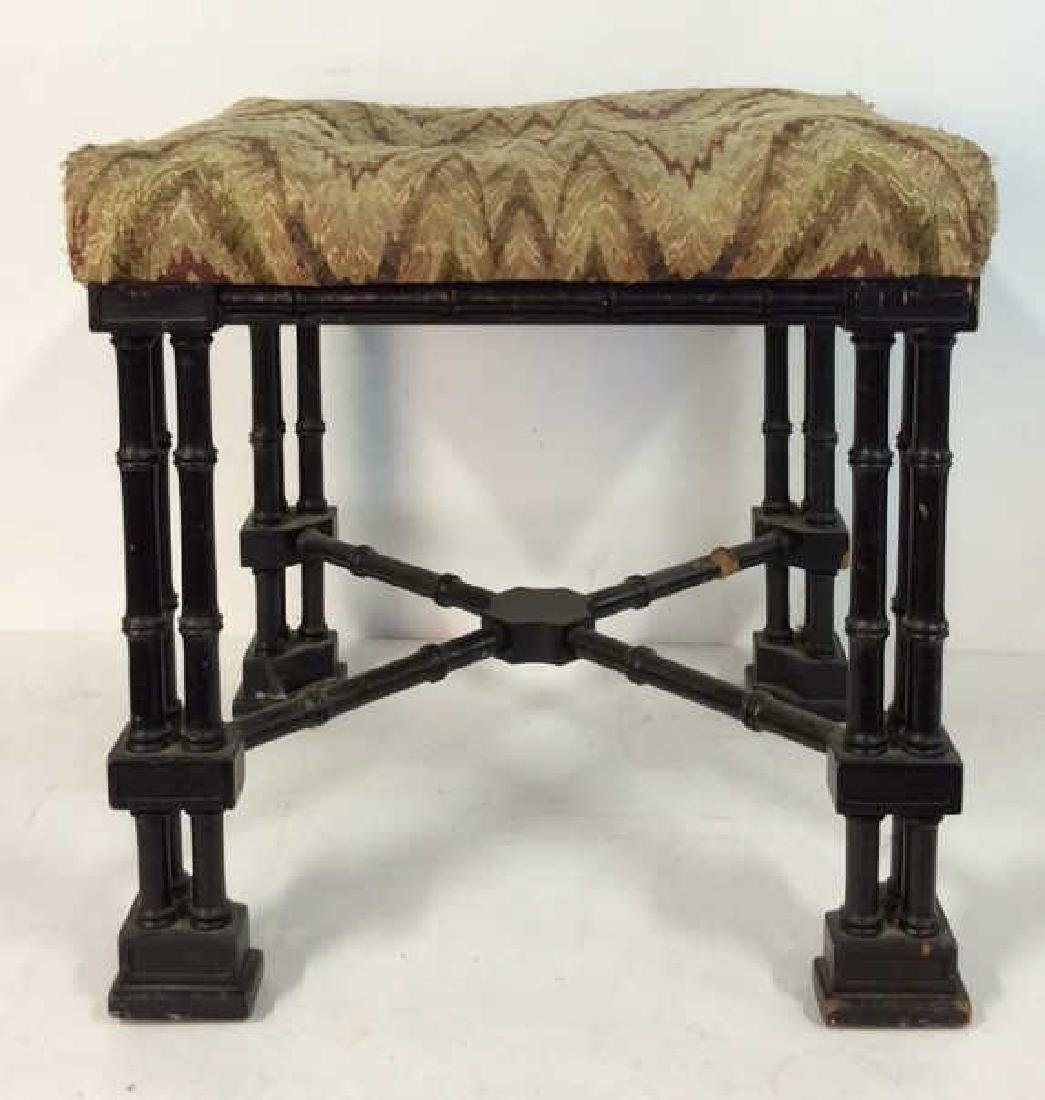 Vintage Chinese Stool Padded Ottoman