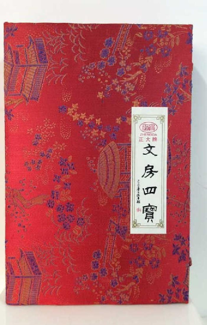 VIntage Custom Made Calligraphy Set w Sik Box