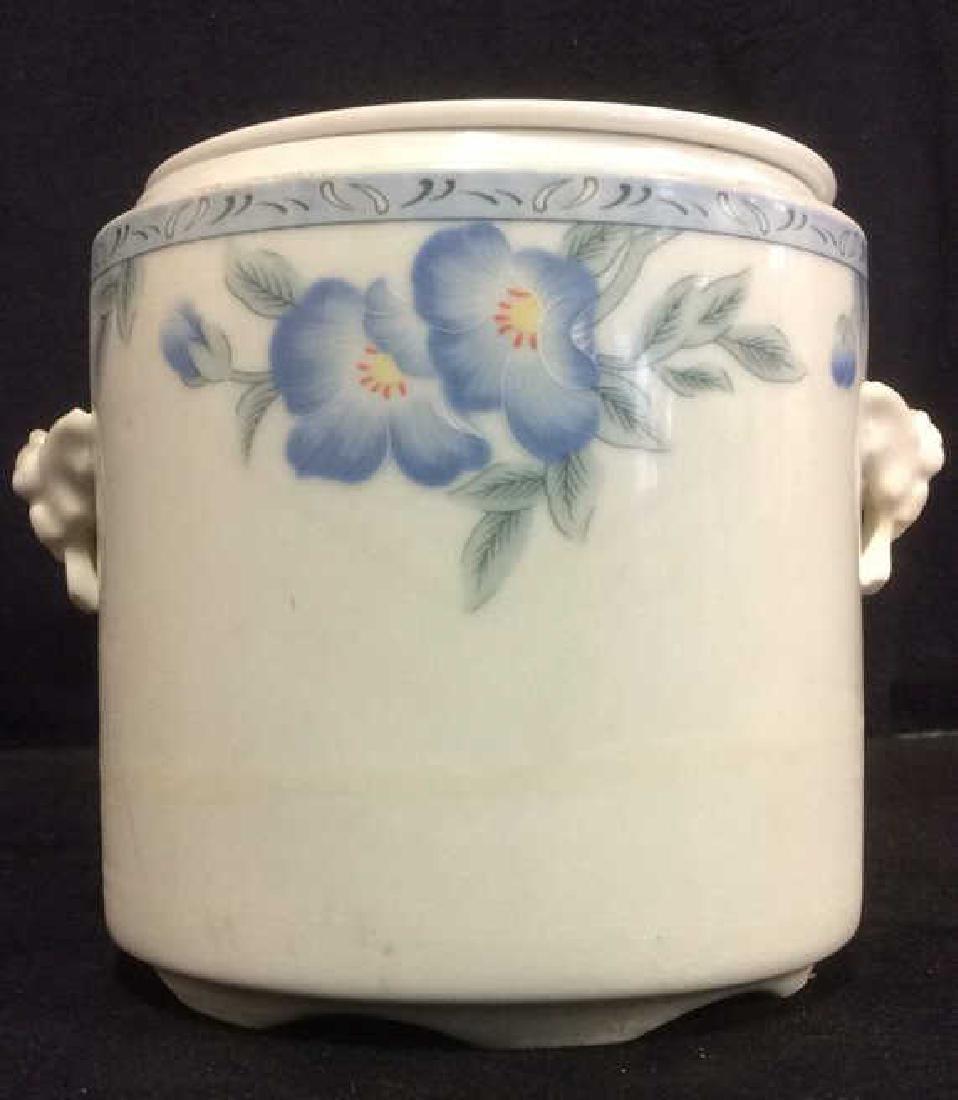CHENGS WHITE JADE PORCELAIN Lidded Sugar Jar