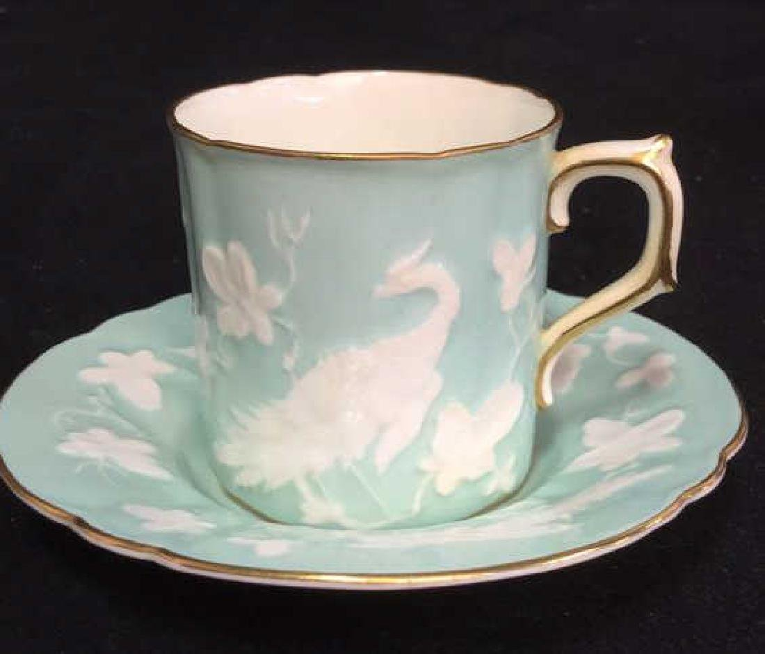 Antique Royal Crown Derby Teacup And Saucer - 12