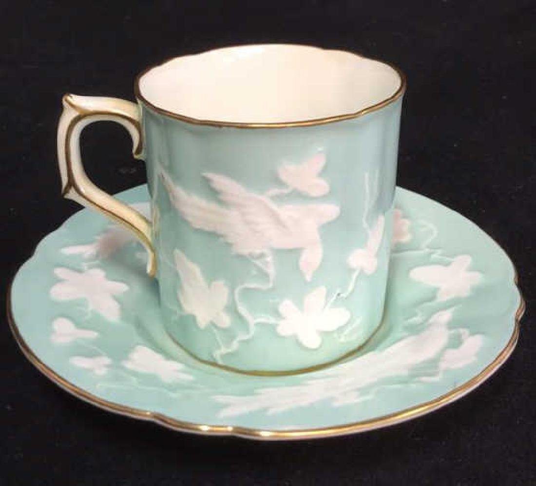 Antique Royal Crown Derby Teacup And Saucer