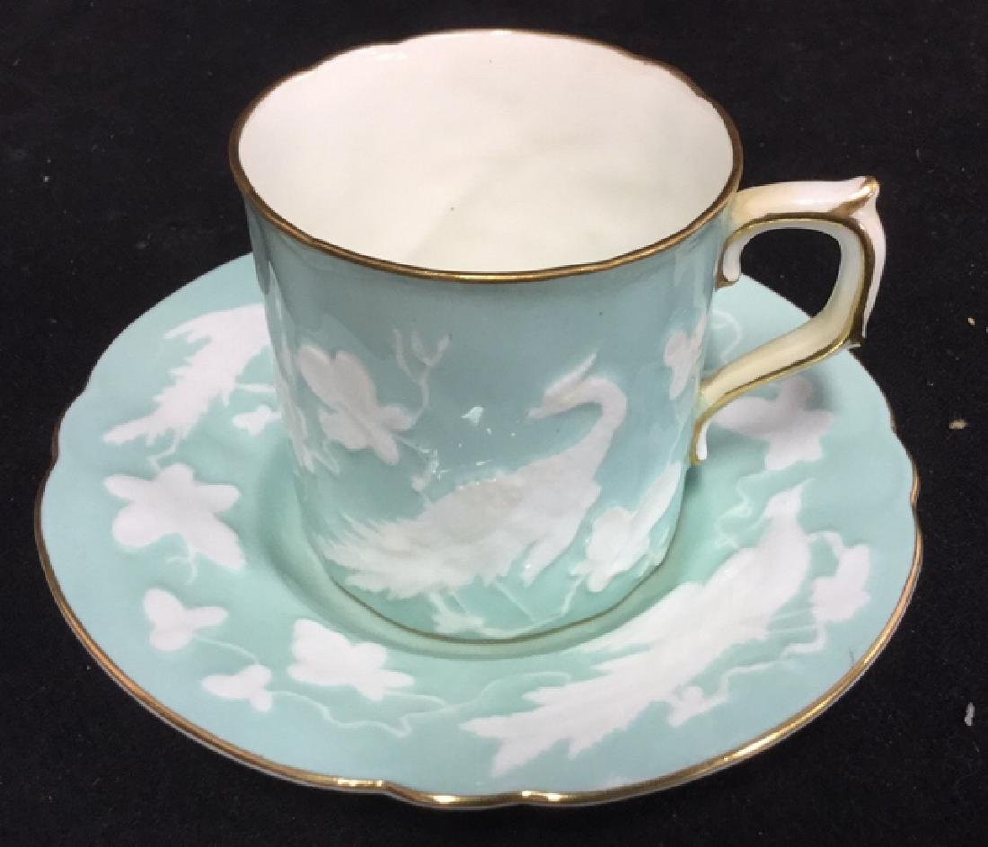 Antique Royal Crown Derby Teacup And Saucer - 3