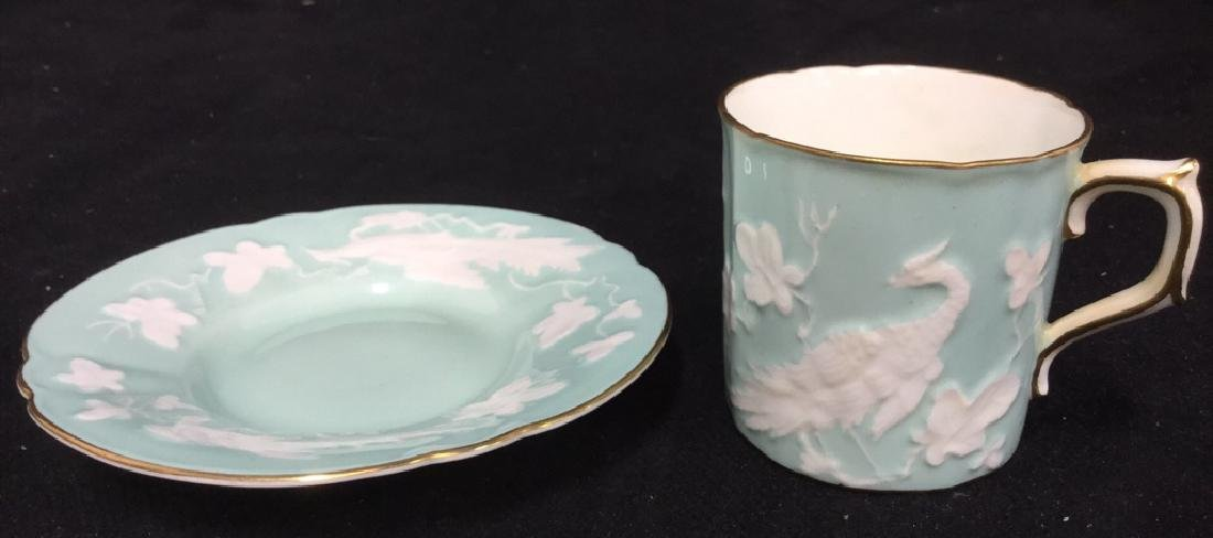 Antique Royal Crown Derby Teacup And Saucer - 9