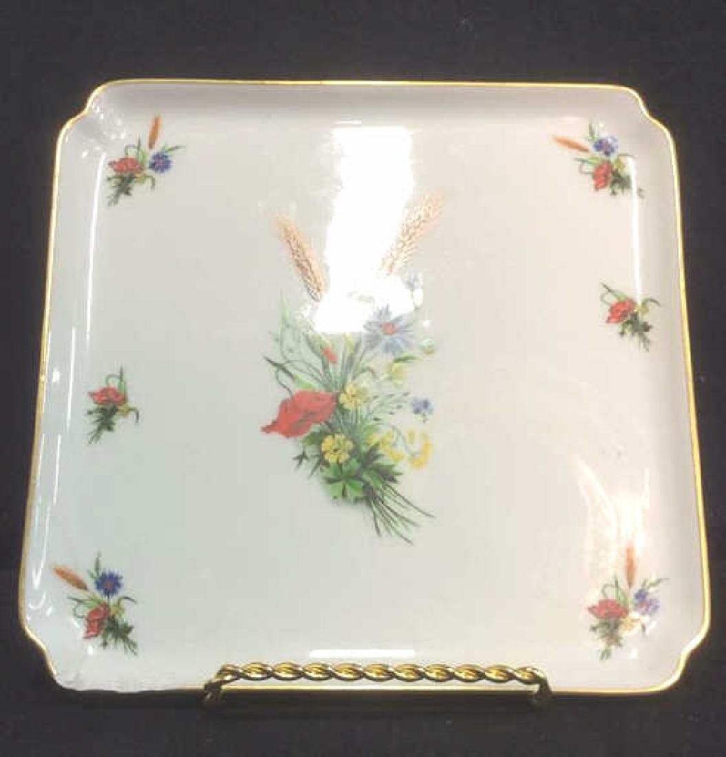 LIMOGES FRANCE Porcelain Painted Serving Dish - 2