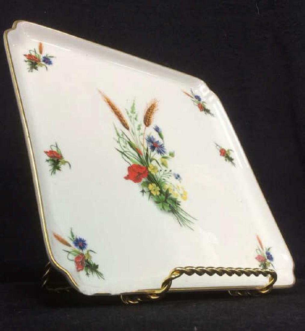 LIMOGES FRANCE Porcelain Painted Serving Dish - 3