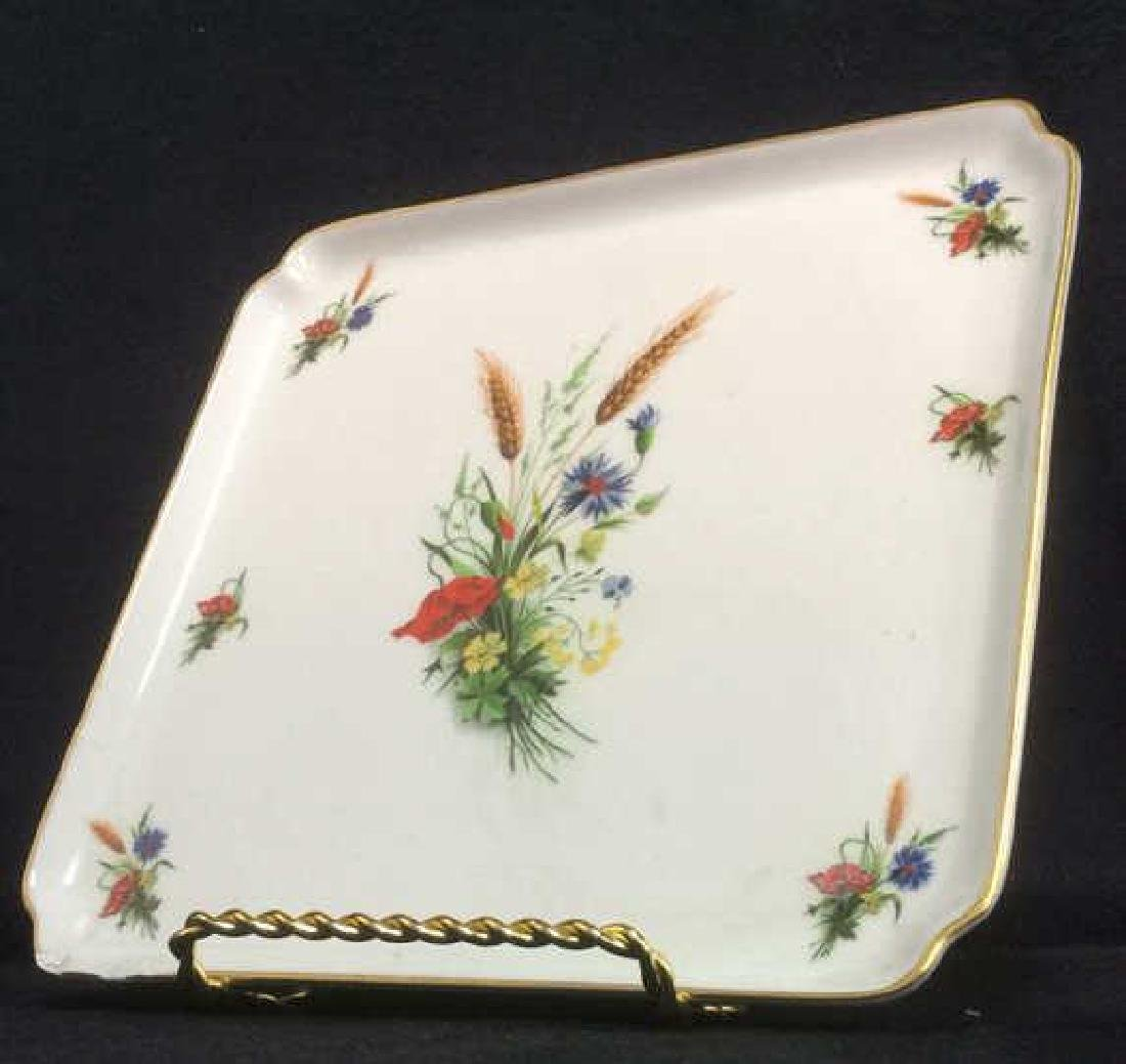 LIMOGES FRANCE Porcelain Painted Serving Dish - 4
