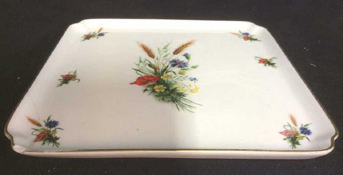 LIMOGES FRANCE Porcelain Painted Serving Dish - 6