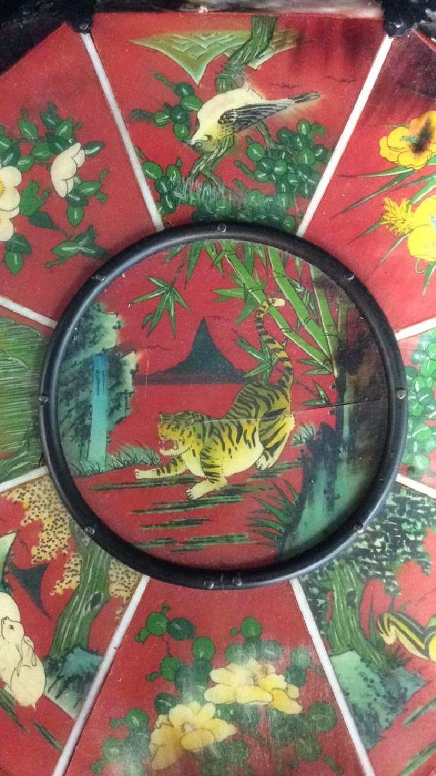 Wooden Lacquered Asian Style Colorful Jewelry Box - 3
