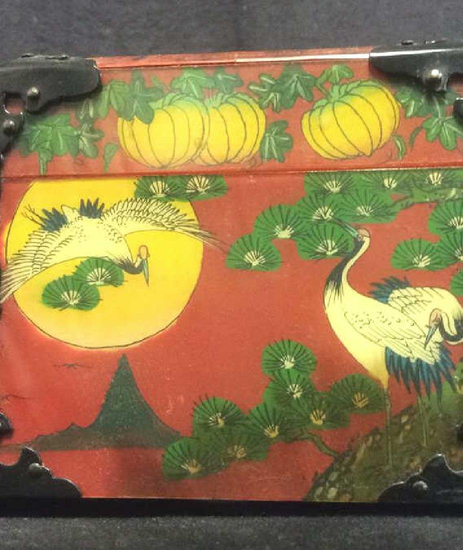 Wooden Lacquered Asian Style Colorful Jewelry Box - 9