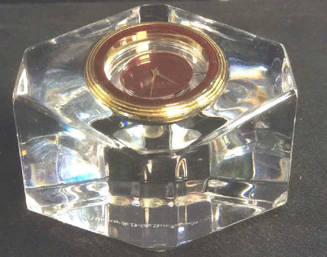 VILLEROY & BOCH Crystal Desk Clock