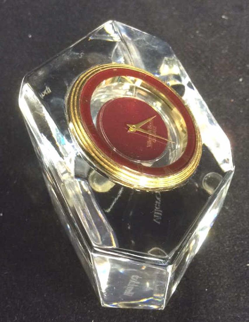 VILLEROY & BOCH Crystal Desk Clock - 4