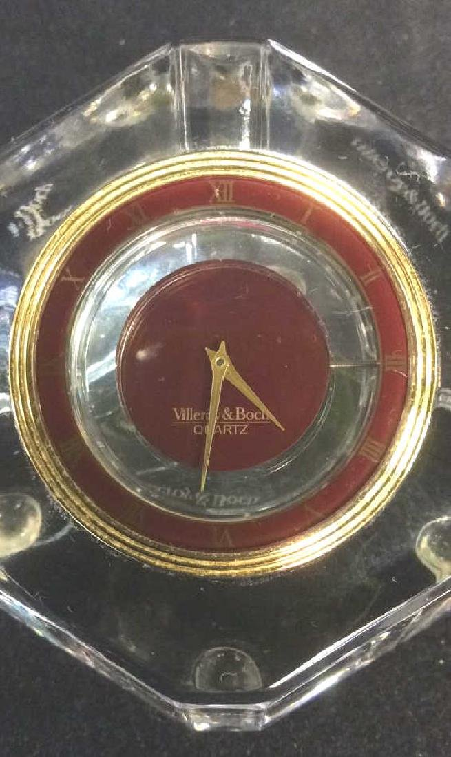 VILLEROY & BOCH Crystal Desk Clock - 7